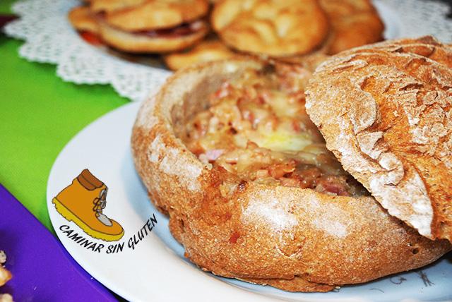 Pan sin gluten relleno de La Celiacoteca