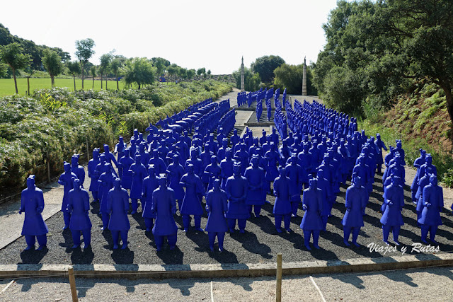 Guerreros de terracota, jardín Buddha Eden