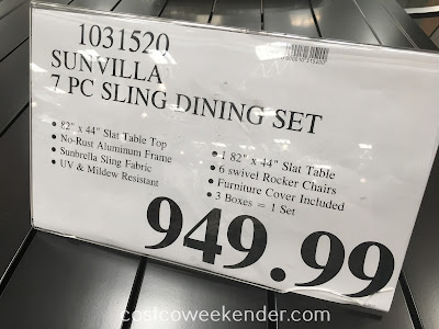 Deal for the Sunvilla 7 piece Sling Dining Set at Costco