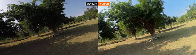 Runcam 3 WDR on off