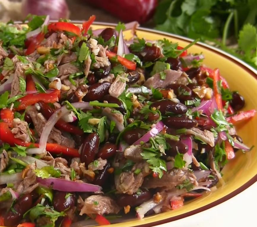 Фасолевый салат с фото