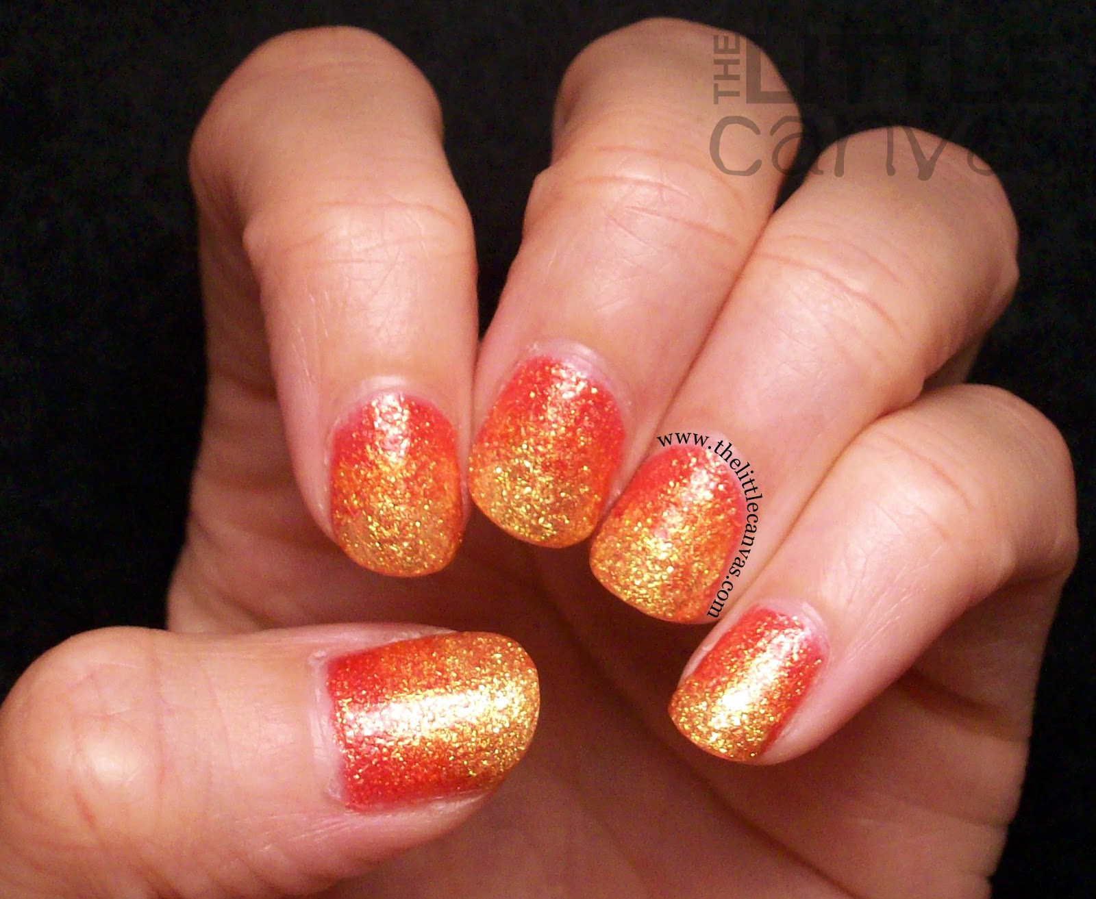 Zoya Pixie Dust Fire Gradient Nails - The Little Canvas