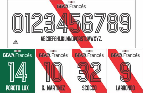 River Plate 2017-18 tipografía fe8320e1d8f9c