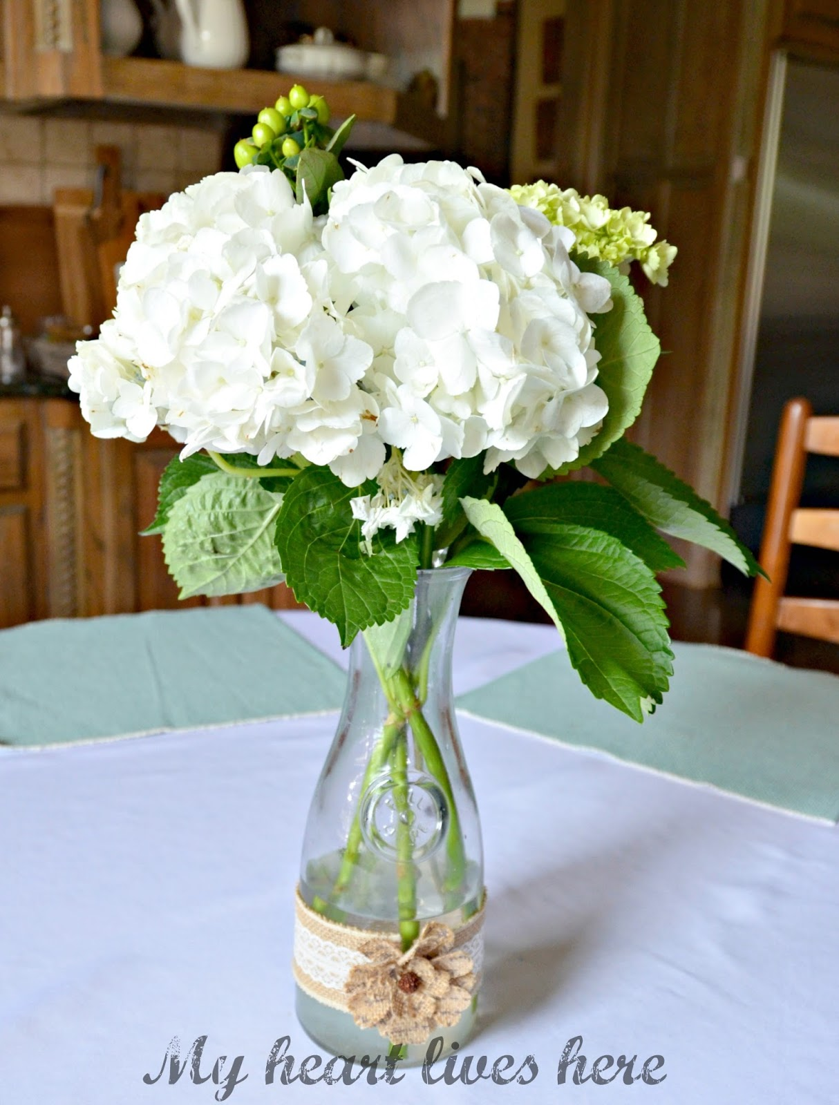 Flower Centerpieces My Heart Lives Here