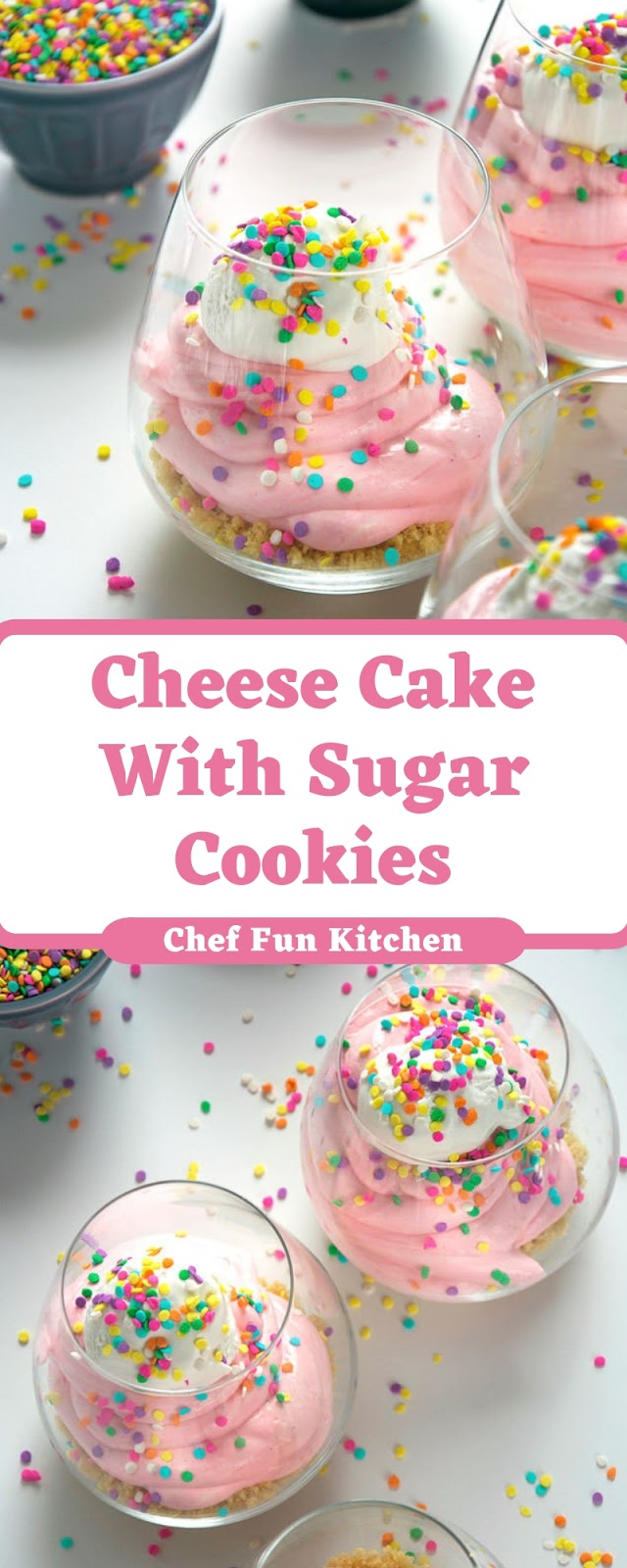 Cheese Cake With Sugar Cookies