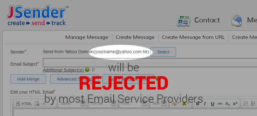 JSender - Email Marketing Blog: Send from @yahoo com domain