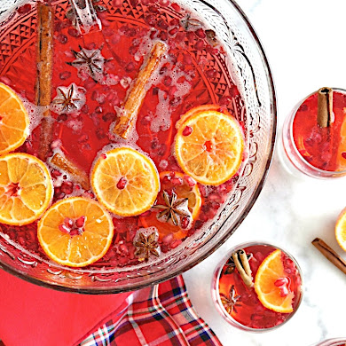 Cranberry Vodka Christmas Punch Recipe