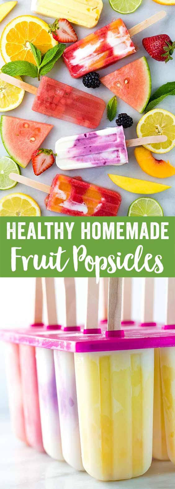 Healthy Homemade Fruit Popsicles