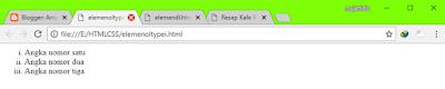 HTML5 #5 : Elemen List Dan Macam-Macam Attribut Tag List