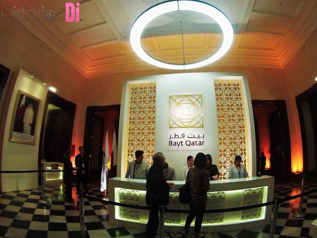 Recepção para credenciamento na Bayt Qatar