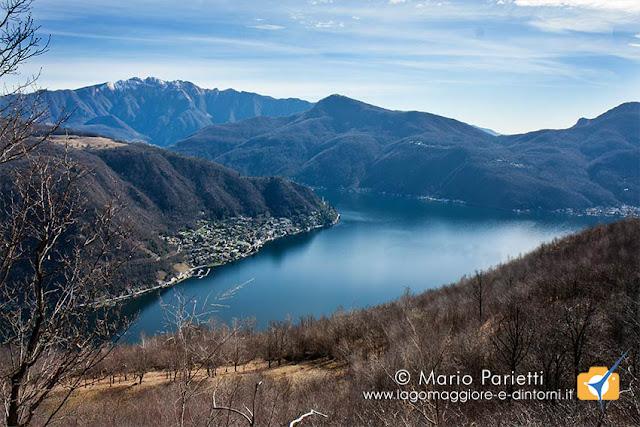 Panorama sul lago di Lugano dalle trincee della linea Cadorna
