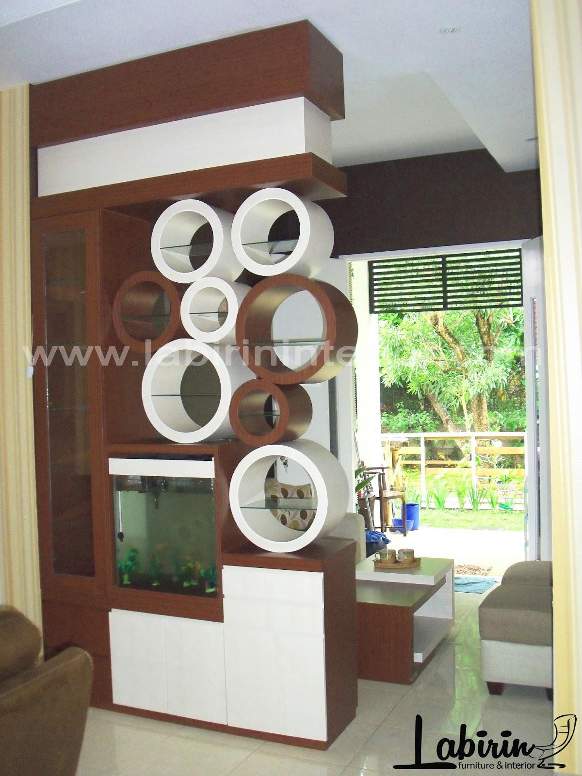 Desain Akuarium Ruang Tamu Sketsa Rumah