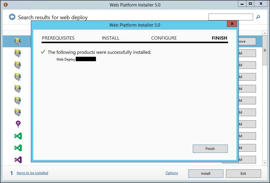 visual studio installer deploy web application in iis