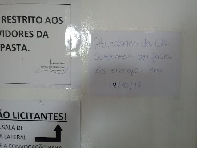 ALÔ ALÔ Bruno Caldas Presidente da CPL, fornecedores estão reclamando!!!