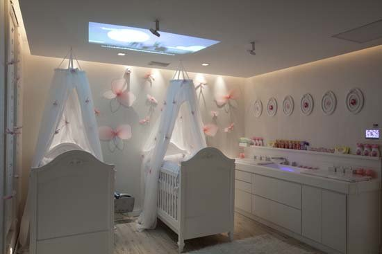 Cuarto para gemelas o dormitorios para mellizas bebes via - Habitaciones para bebes gemelos ...