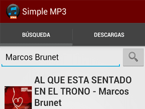 Sección de Búsqueda - App Simple Mp3 Downloader Pro
