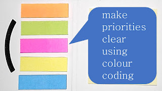 make priorities clear using colour coding