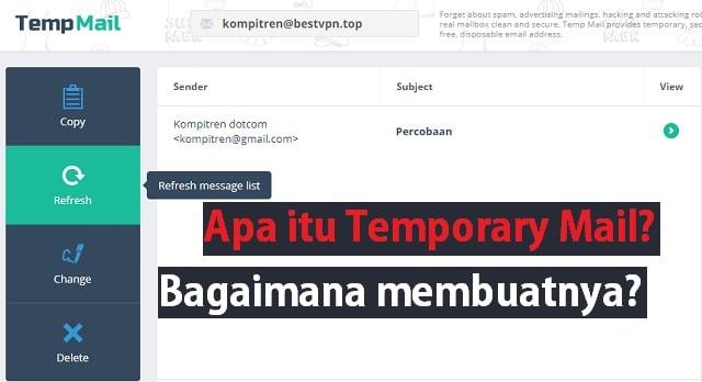 Apa itu Temporary Mail dan bagaimana cara membuatnya 1