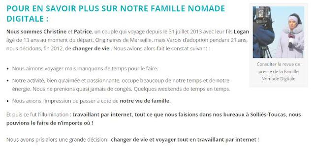 Présentation famille nomade digitale