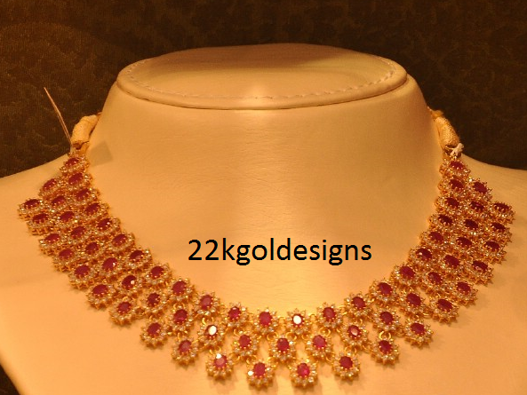Malabar Ruby Choker Necklace design