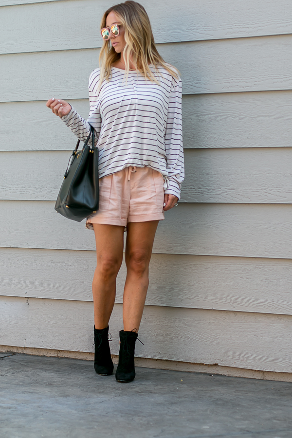 black and white long sleeve tunic top