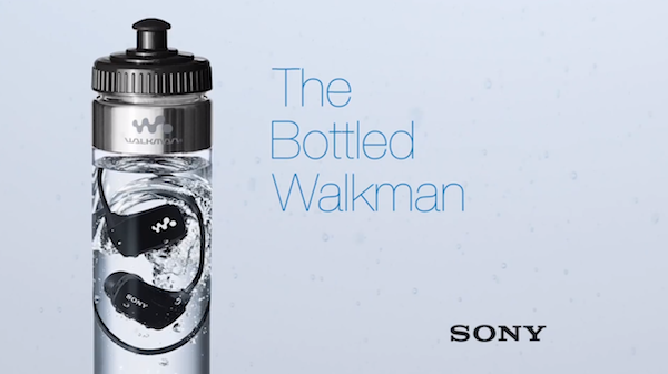 Sony Once Made A MP3 That Is Sold Inside A Water Bottle