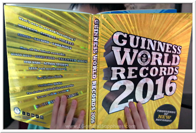 Guinness World Records 2016 Book . . . an easy gift for any kid, teen, or adult!  |  www.3Garnets2Sapphires.com