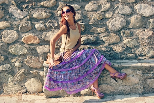 Purple gypsy skirt