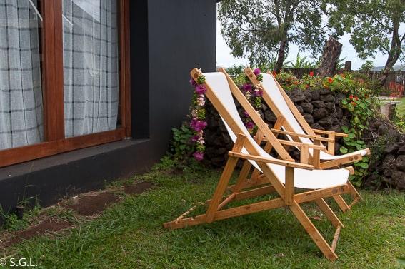 Terraza del Hotel Altiplánico Rapa Nui. Dormir en la isla de Pascua