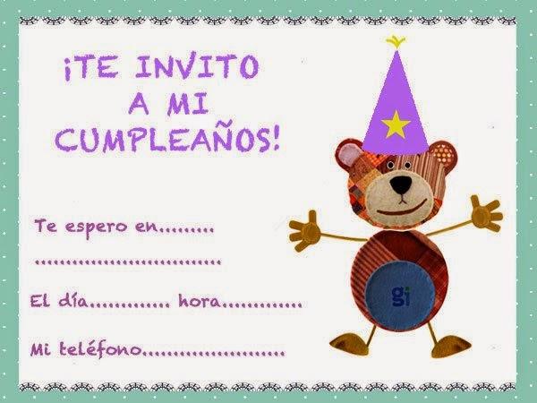 Tarjetas de invitación de cumpleaños para Niños