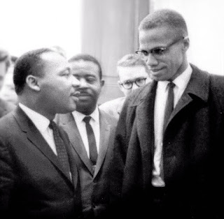 Luther King and Malcolm X, 1964