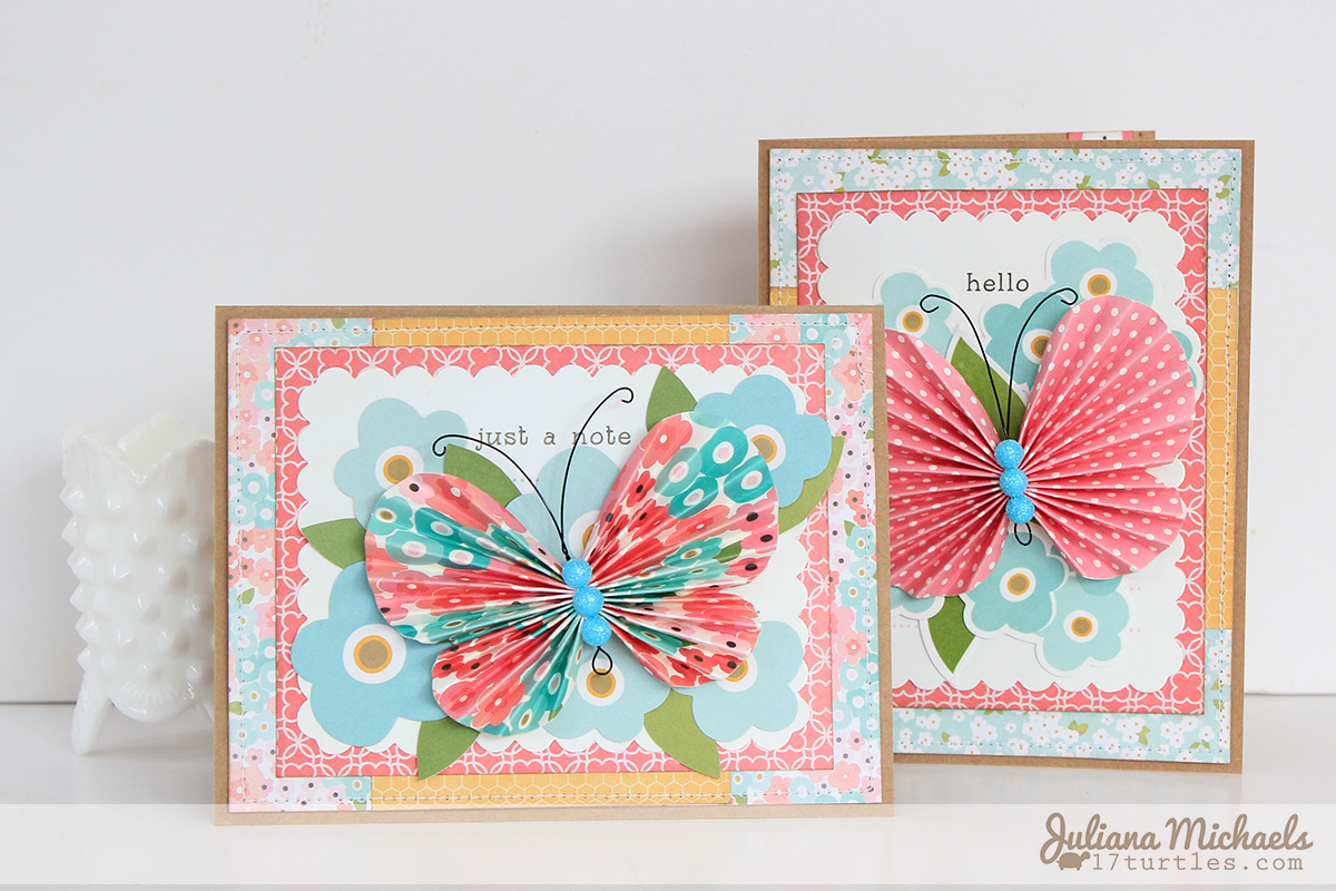 Butterfly Cards Pebbles Inc Garden Party Collection by Juliana Michaels