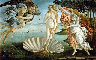 El nacimiento de Venus-Afrodita - Sandro Botticelli