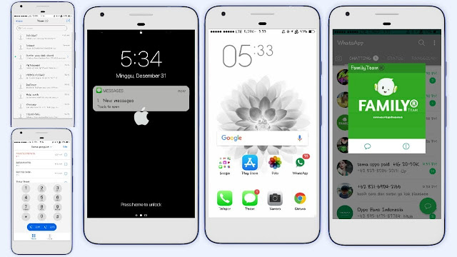 Theme iOS White Full Mod For OPPO Update 2018
