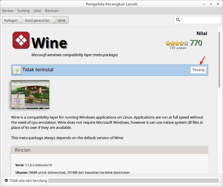 Cara Install Aplikasi Windows Di Linux Mint Dengan WINE - Panduan