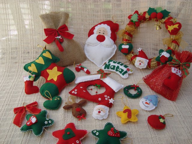 felt craft ideas for christmas 7 das artes que tal fazer os pr 243 prios enfeites de natal 6573