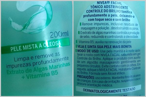 Tônico adstringente para pele mista a oleosa da NIVEA: Descrição do produto