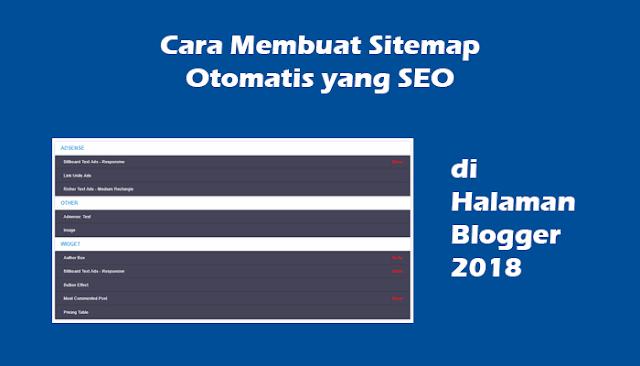 Cara Membuat Sitemap Otomatis yang SEO di Halaman Blogger 2018