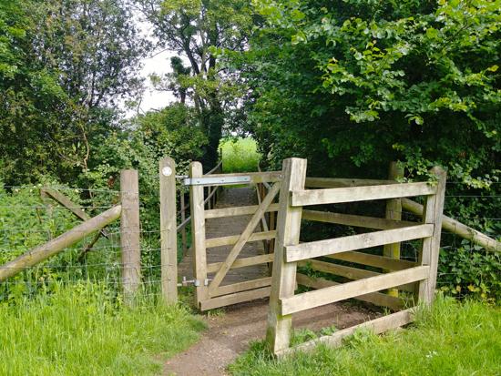 The footbridge mentioned in point 5 below