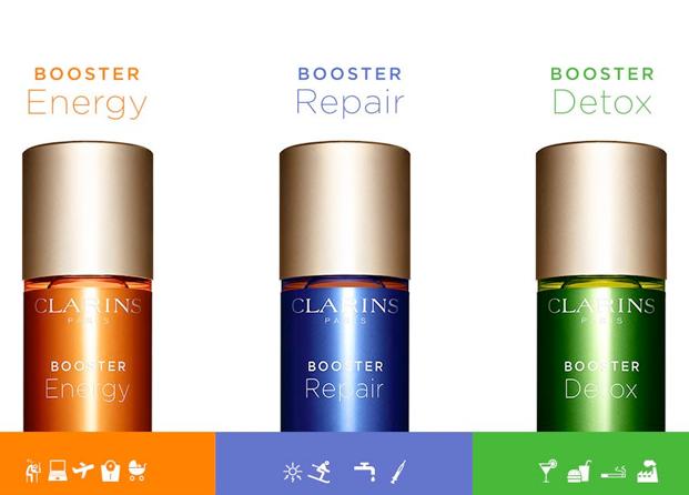Los Booster Energy, Repair & Detox de Clarins que revolucionarán tu rutina beauty