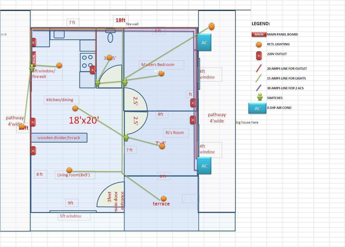 Thoughtskoto for Electrical plan drawing
