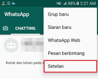 WhatsApp - Pilih menu Setelan
