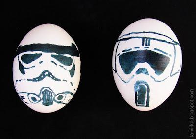 оригинальные рисунки на яйцах