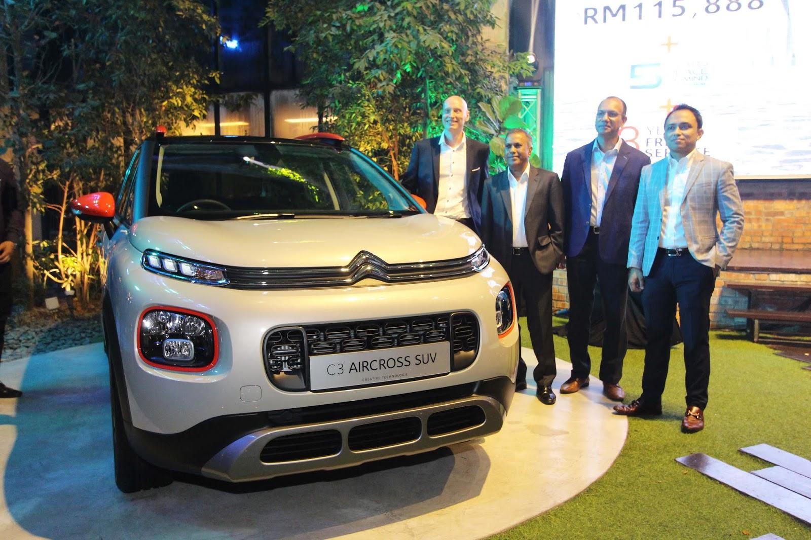 Motoring-Malaysia: 2019 Citroen C3 Aircross SUV Gets its Malaysian