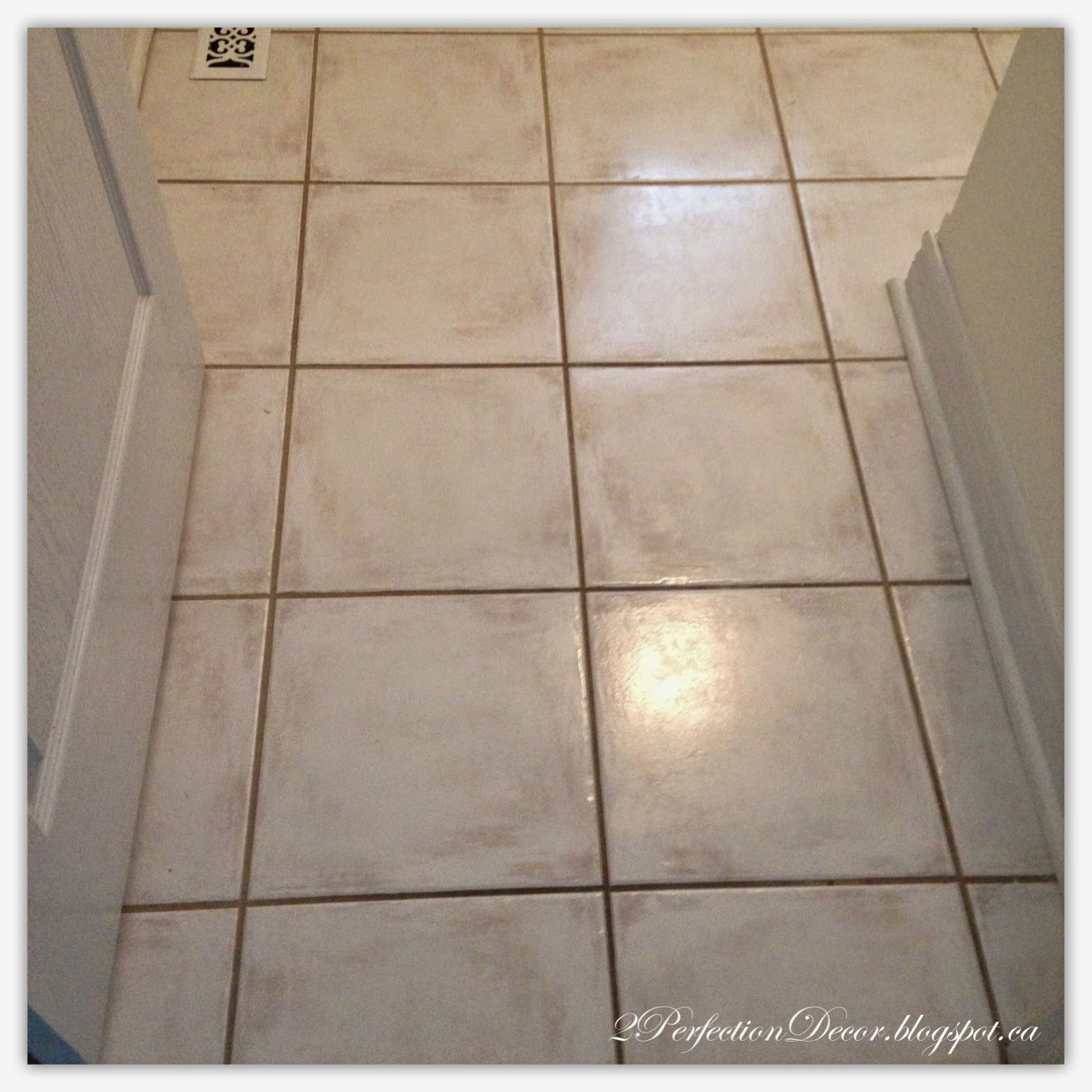 Floor Tile Paint Yes You Can Paint Floor Tiles Here S: 2Perfection Decor: How To Paint Dark Grout 'White