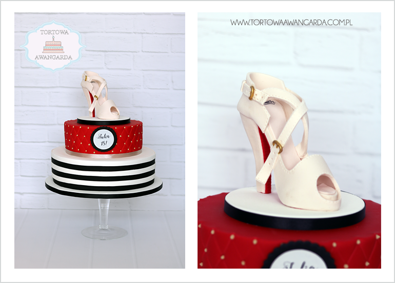 artystyczne torty urodzinowez butem Warszawa cukiernia Praga Południe Gocław
