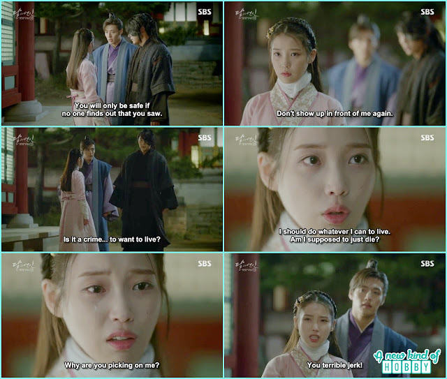 hae so started crying why 4th prince picking on her - Moon Lovers: Scarlet Heart Ryeo - Episode 3 Review
