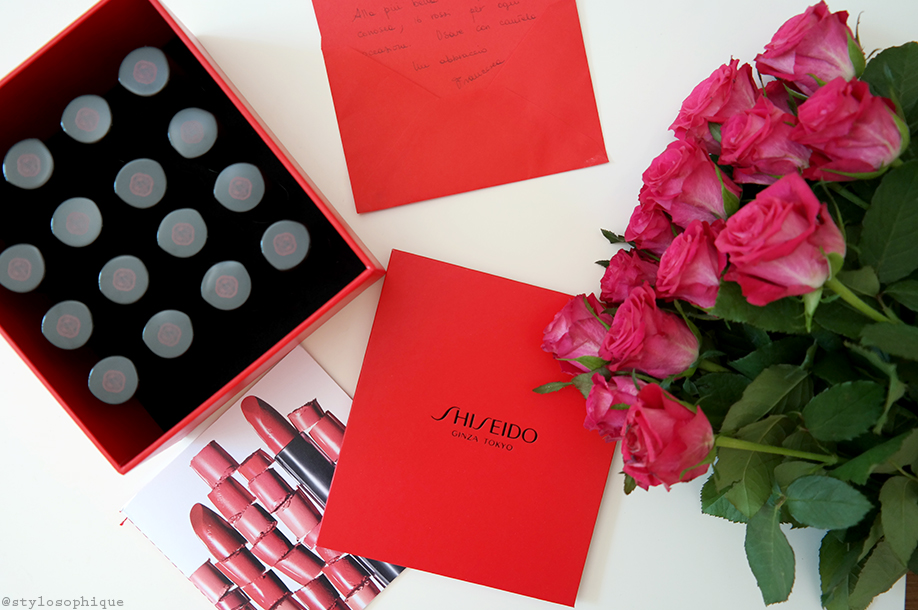 rossetti, shiseido, rouge rouge, swatch