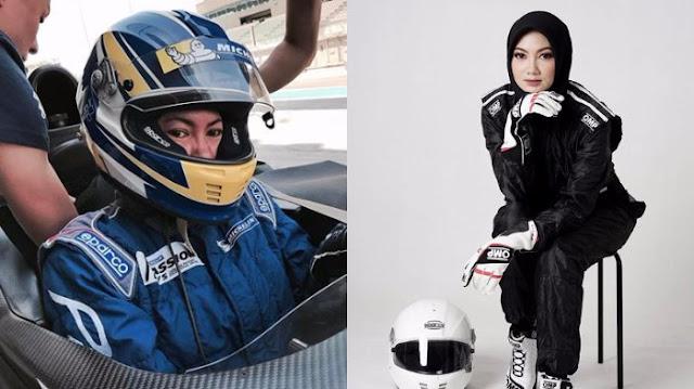 Pembalap Diandra berhijab