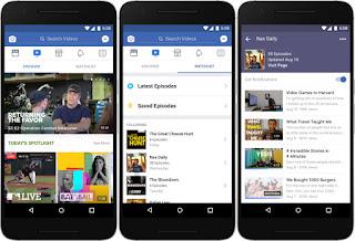 فيسبوك تطلق خدمة Watch لعرض مقاطع الفيديو والمنافسة ليوتيوب
